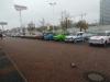 Aufstellung-Parkplatz